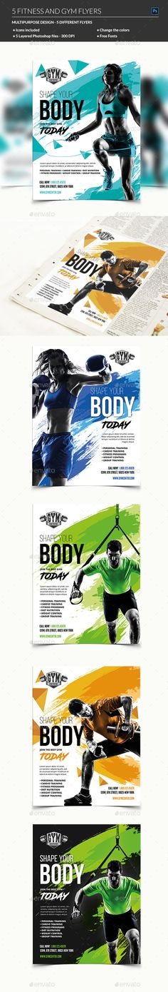 Fitness Flyer by madridnyc A Fitness Flyer Template is a great item for promoting your Fitness & Gym business, beauty center consultancy activity and sports