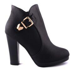 CIZME NEGRE ELEGANTE LADY  119,0 LEI Lei, Booty, Ankle, Shoes, Fashion, Moda, Swag, Zapatos, Wall Plug