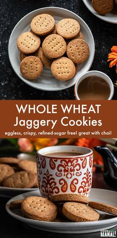 Whole Wheat/Atta Cookies sweetened with jaggery and flavored with cardamom. Thes… Whole Wheat/Atta Cookies sweetened with jaggery and flavored with cardamom. Thes… – Eggless Cookie Recipes, Eggless Baking, Baking Recipes, Snack Recipes, Eggless Biscotti Recipe, Eggless Desserts, Health Desserts, Cupcake Recipes, Yummy Recipes