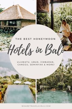 Bali is the perfect honeymoon destination! Read our top luxury hotels and resorts in every area of Bali that are perfect for your dream honeymoon. Honeymoon Destinations All Inclusive, Cheap Honeymoon, Best Places To Honeymoon, Bali Honeymoon, Honeymoon Places, Romantic Vacations, Romantic Travel, Honeymoon Ideas, Hotels And Resorts