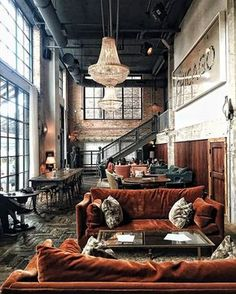Industrial Style 746612444463930364 - Bon Pic Style Architectural classic Concepts, Source by tanguymailis Interior Design Chicago, Industrial Interior Design, Vintage Industrial Decor, Industrial House, Industrial Interiors, Home Interior Design, Interior Architecture, Industrial Furniture, Industrial Loft Apartment