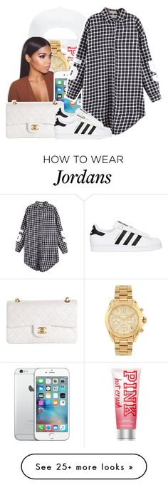 """7/15/16"" by i-s-l-a-n-d-vibes on Polyvore featuring Victoria's Secret, Michael Kors, Chanel, adidas Originals, women's clothing, women, female, woman, misses and juniors"