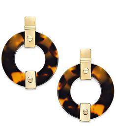 Ralph Lauren (Lauren) tortoise earrings
