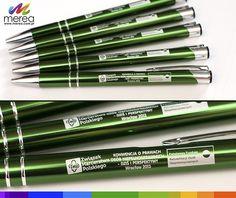 Długopisy metalowe, zielone z grawerem wwwmerea.com.pl/dlugopisy_z_grawerem.html
