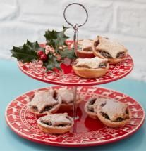 Nordic Red Christmas Cake Stand