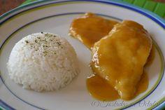 Filetes de pollo con mostaza y miel