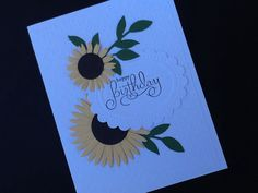 Sunflower Birthday Card by gloriouscardgreeting on Etsy