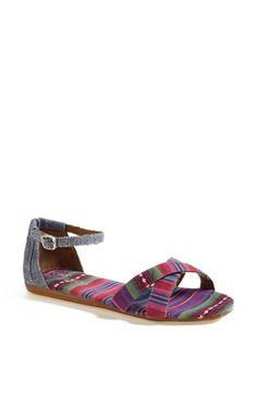 c4d2bccc466 TOMS  Correa  Ankle Strap Flat Sandal available at  Nordstrom Shoes Flats  Sandals