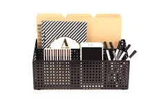 Premium Black Metal Mesh Desktop Mail office supplies desk organizer  3 Compartments for Supplies  Holds a Standard Letter Size File Folder Paperwork Bills Pens Pencils Small Office Items ** You can get additional details at the image link. Note:It is Affiliate Link to Amazon.