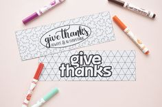 printable // give thanks bookmarks