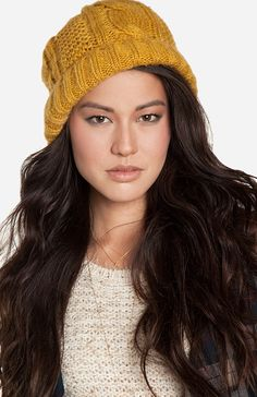 Oversized Cable Knit Beanie