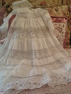 Lace christening gown!