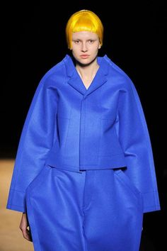 The Comme Des Garcons Fall/Winter 2012 Collection is Neon Crazy #capes trendhunter.com