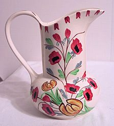 Blue Ridge Pottery Jane Pitcher  centennialantiques.com