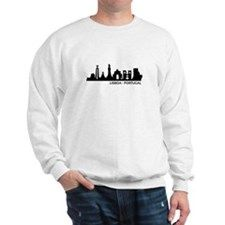 Shop Skyline Lisboa - Portugal Sweatshirt designed by Lots of different size and color combinations to choose from. Fleece Hoodie, Crew Neck Sweatshirt, Graphic Sweatshirt, T Shirt, Color Combinations, Sweatshirts, Long Sleeve, Mens Tops, Ambulance