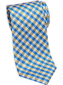 Tommy Hilfiger Yellow and Blue Check Narrow Tie