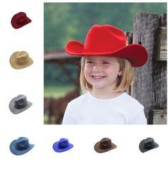 0a81c0d33c2 Kid Children Boy Girl Wool Felt Fedora Cowboy Cowgirl Western Bull Jazz Sun  Hat