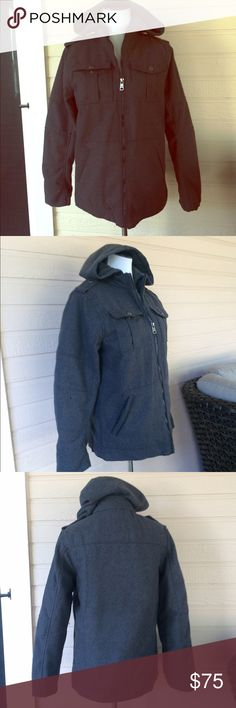 Young Adult wool blend coat Teen Boy charcoal gray coat, more info coming soon Urban Republic Jackets & Coats