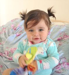 Baby girl hair dos #ponytails #cute