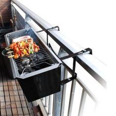 Heerlijk barbecueën op je balkon met deze gave, super handige Balkon BBQ! MegaGadgets.nl
