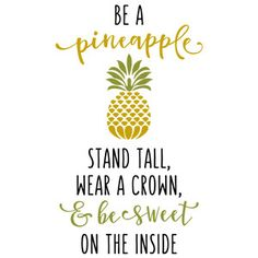 Be A Pineapple Inspirational Print And Coloring Page
