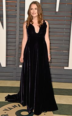 Keira Knightley in Valentino at the 2015 Vanity Fair Oscars Party