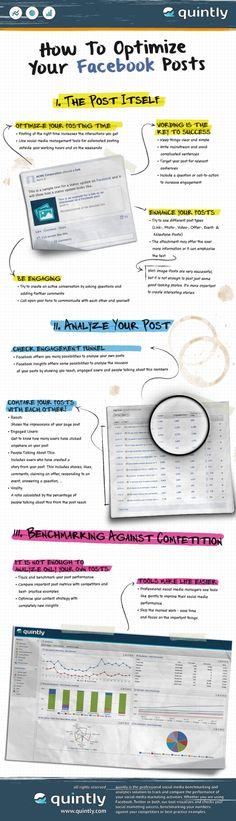 How to optimize your FaceBook posts #infografia #infographic #socialmedia