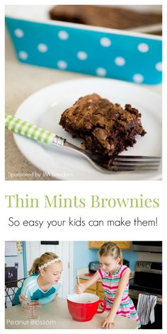 YUM! Thin Mints Brownies?! What?? These are so crazy easy and delicious. My kids…