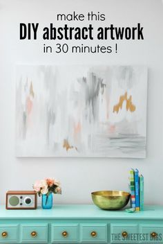 Trend To Wear: Make Your Own DIY Abstract Art With This Tutorial ...