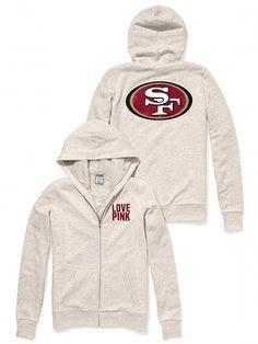 NFL San Francisco 49ers 1/4 Zip Pullover Lined Jacket Red Black ...