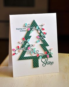 Hoping Your Holidays Shine Card by Maile Belles for Papertrey Ink (September 2014)