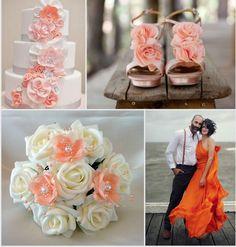 Tendenze moda matrimoni 2014. I colori più glamour per un matrimonio in spiaggia. Il rosa pesca