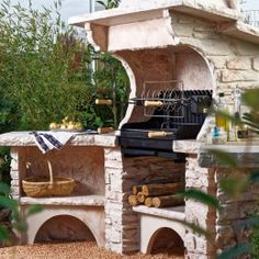 1000 id es sur le th me barbecue en pierre sur pinterest for Barbecue de jardin en pierre