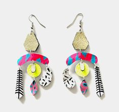 Leather Earrings, Leather Jewelry, Beaded Earrings, Drop Earrings, Earrings Handmade, Fabric Jewelry, Diy Jewelry, Paper Jewelry, Glitter Fabric