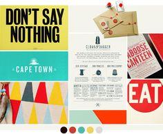 senn & sons / by breanna rose Web Design, Label Design, Print Design, Pop Art Colors, Vintage Pop Art, Mood And Tone, Branding, Concept Board, Graphic Design Inspiration