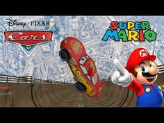Lighting McQueen Imposibble Rode With Super Mario (Songs for Children wi...