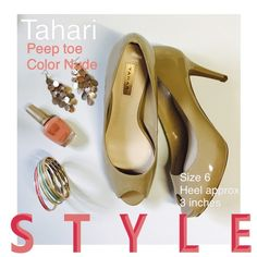 Tahari peep toe in nude Classy peep toe. Brand new. Heel approximately 3inches. Tahari Shoes Heels