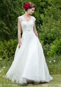 HOT Design Custom CAP Sleeve V Neck White Ivory Lace Vintage Wedding Dress Gowns   eBay