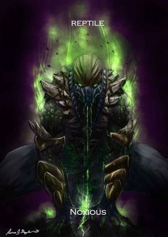 Mortal Kombat Reptile Variation: Noxious by Grapiqkad on DeviantArt
