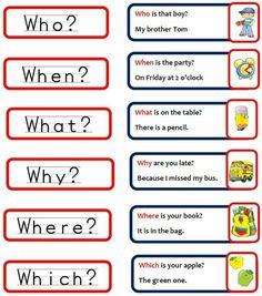 questions words in english ile ilgili görsel sonucu English Writing, English Study, English Words, English Grammar, Learn English, Kids English, English Tips, English Lessons, English For Beginners