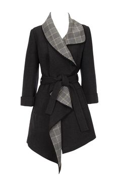 Soft draped coat from Karen Millen. This would be great with jeans Source by sauteedthekitchenstore abrigos Looks Style, My Style, Mode Kimono, Black Wool Coat, Stylish Eve, Karen Millen, Coats For Women, Ideias Fashion, What To Wear