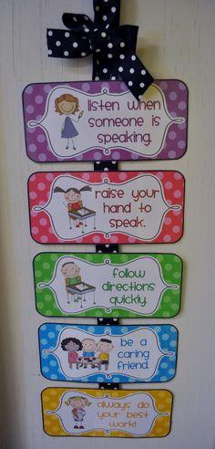 Mrs. Ricca's Kindergarten: Classroom Management {Freebies} wbt rules