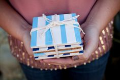How-to striped coasters by Valley & Co. Photos: Elle G. Photography