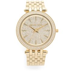 Michael Kors Darci Watch ($325) ❤ liked on Polyvore featuring jewelry, watches, gold, water resistant watches, snap button jewelry, slim watches, snap jewelry and michael kors jewelry