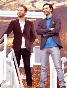 Dean O'Gorman and Aidan Turner at the launch of The Hobbit: The Desolation
