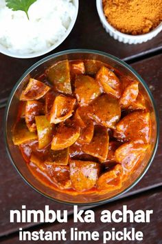 Spicy Recipes, Curry Recipes, Cooking Recipes, Indian Pickle Recipe, Lemon Pickle Recipe, Pickles Recipe, Lime Pickles, Indian Dessert Recipes, Korean Dessert