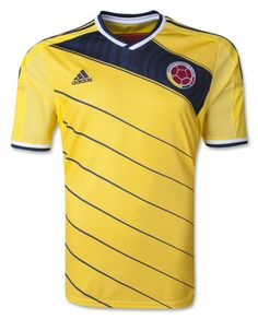 competitive price 6600c c0a9d Colombia 2014 Home Soccer Jersey Colombia Soccer Team, World Cup Jerseys,  Football Jerseys,