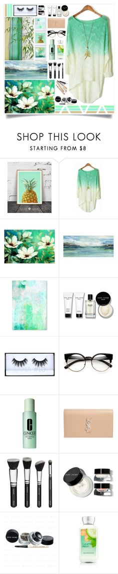 """""""Lily Pond"""" by angelstylee ❤ liked on Polyvore featuring Bobbi Brown Cosmetics, Huda Beauty, Clinique, Yves Saint Laurent and Dolce&Gabbana"""