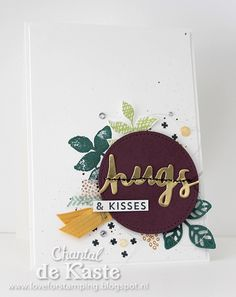 Sneak Peek Stampin' Up! catalogue 2017-2018 with the Lovely Words thinlits dies, Oh so Ecletic, Glitter Enemal dots and the new In Colors.