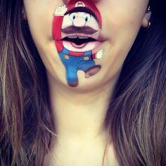 Makeup Artist Turns Her Lips Into Cute Cartoon Characters Lipstick Art, Lip Art, Lipstick Colors, Lipsticks, Mouth Painting, Cute Cartoon Characters, Disney Characters, How To Apply Lipstick, Hair And Makeup Artist